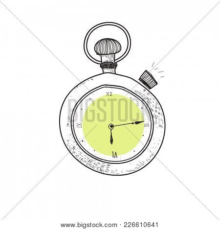 Clock of doodle style