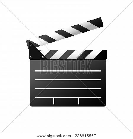 Simple Icon Of Film Slate - Clapboard Symbol, Moviemaker