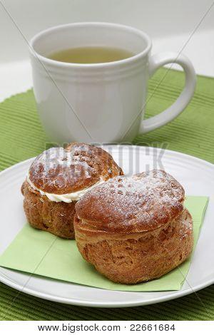 Two Profiteroles And Tea