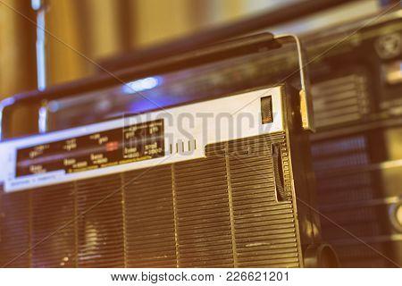 Old Radio Retro Style Vintage Photo 80s Year