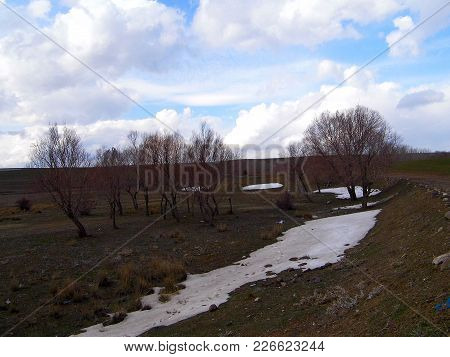 The Arrival Of The Spring In The Continental Climate, The Melting Of The Snow, The Landing, The Begi