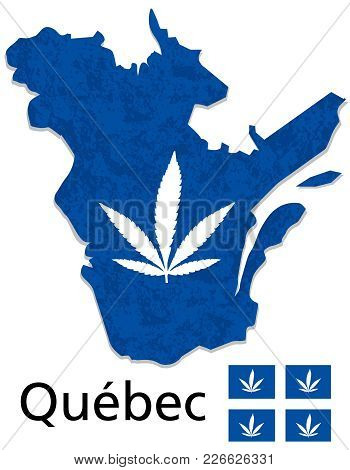 Quebec Map Province Of Canada Cannabis Legalization Vector Design