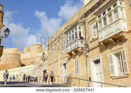 The Citadel Of Victoria On Gozo Island, Malta