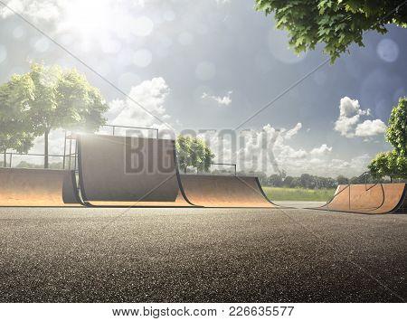 Skating Skate Park Skatepark Design Skateboard Skateboarding Empty