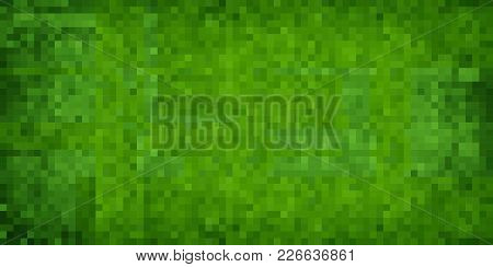 Green Abstract Grunge Background - Illustration,  Mosaic Grunge Background,  Squares Of Light And Da
