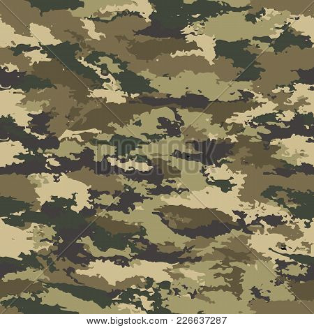 Vector Camouflage Seamless. Camouflage Military Background - Vector Illustration. Abstract Spot Patt