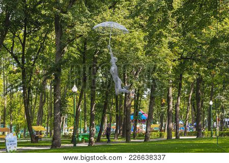 Kharkov, Ukraine - September 5, 2017: It Is The Sculpture Of Mary Poppins In The Central Park Of Cul