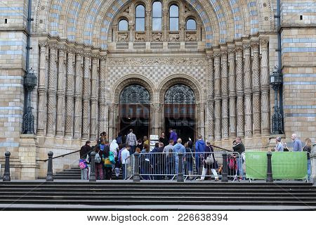 London, Great Britain - May 22, 2014: This Is Entrance To The Museum Of Natural History, Which Is Bu
