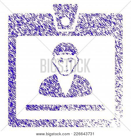 Grunge Guy Access Card Rubber Seal Stamp Watermark. Icon Symbol With Grunge Design And Dirty Texture
