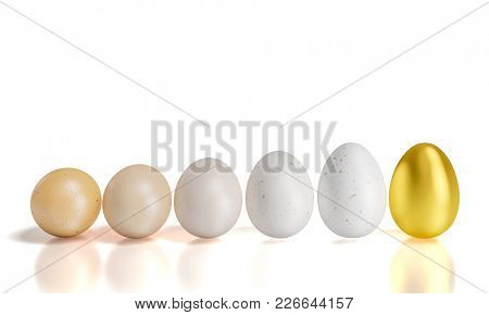 easter eggs 3d rendering image