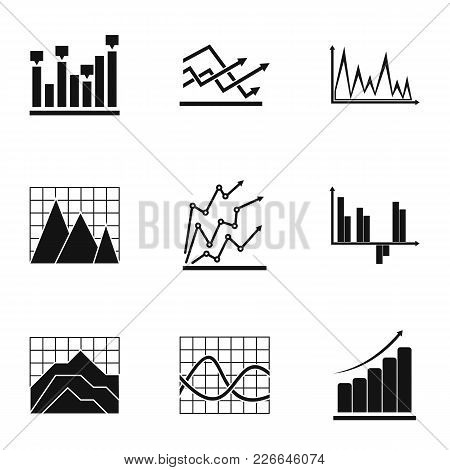 Project Graph Icons Set. Simple Set Of 9 Project Graph Vector Icons For Web Isolated On White Backgr