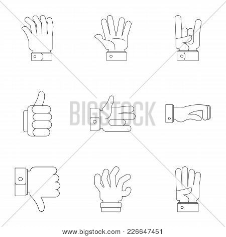 Sign Board Icons Set. Outline Set Of 9 Sign Board Vector Icons For Web Isolated On White Background