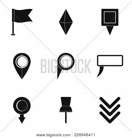Road Mark Icons Set. Simple Set Of 9 Road Mark Vector Icons For Web Isolated On White Background