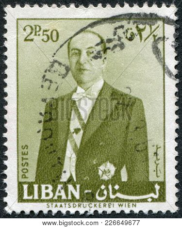 Lebanon - Circa 1961: Postage Stamps Printed In Lebanon, Depicts The President Of The Republic Of Le