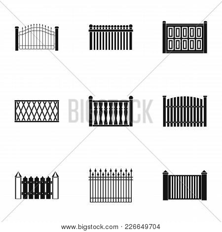 Partition Icons Set. Simple Set Of 9 Partition Vector Icons For Web Isolated On White Background