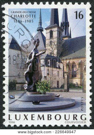 Luxembourg - Circa 1996: A Stamp Printed In Luxembourg, Is Dedicated To The 100th Anniversary Of Cha
