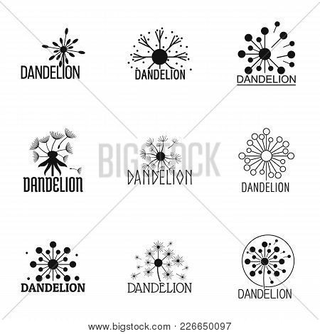 Dandelion Icons Set. Simple Set Of 9 Dandelion Vector Icons For Web Isolated On White Background