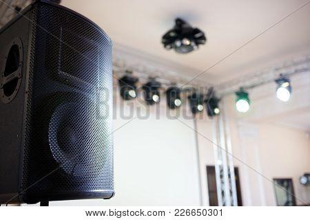 Sound Stage Equipment Spot Lights And Loudspeaker