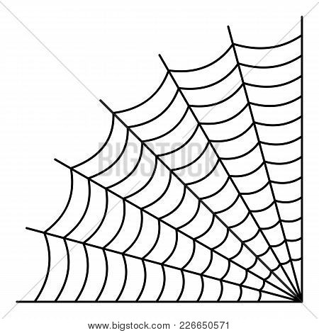 Braided Spiderweb Icon. Outline Illustration Of Braided Spiderweb Vector Icon For Web