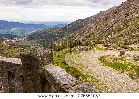 Roman Road Crossing The Gredos Mountains Of Spain