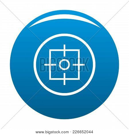 Target Icon Vector Blue Circle Isolated On White Background