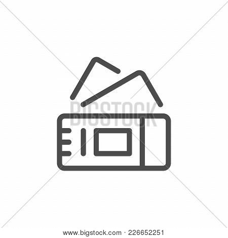 Tickets Line Icon Isolated On White. Vector Illustration