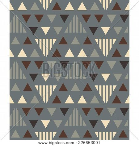 Irregular Triangles Seamless Pattern. For Print, Fashion Design, Wrapping Wallpaper