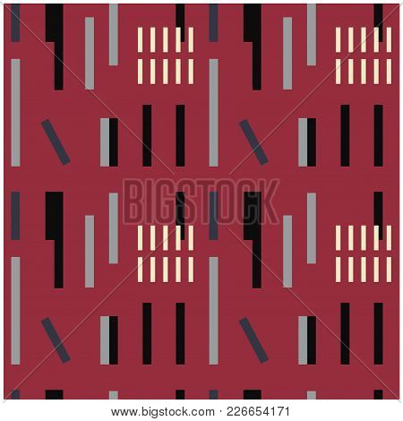Industrial Uneven Geometric Seamless Pattern. Design For Print, Fabric, Textile. Seamless Wallpaper