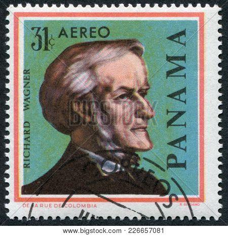 Panama - Circa 1966: Postage Stamps Printed In Panama, Shows A German Composer Richard Wagner, Circa