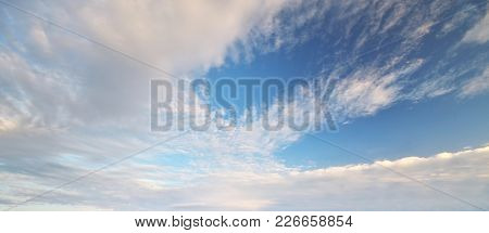 Sky pastel clouds. Nature composition.