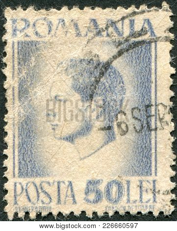 Romania - Circa 1946: A Stamp Printed In The Romania, Shows The King Of Romania, Michael, Circa 1946