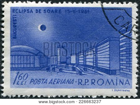 Romania - Circa 1961: A Stamp Printed In The Romania, Shows The Republic Square In Bucharest And The