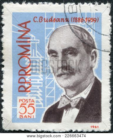 Romania - Circa 1961: A Stamp Printed In The Romania, Shows Constantin Budeanu, Circa 1961