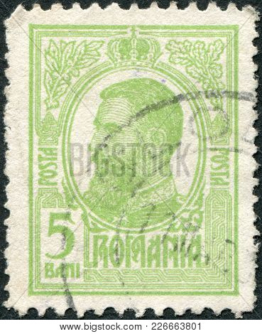 Romania - Circa 1909: A Stamp Printed In The Romania, Shows The King Of Romania, Carol I, Circa 1909