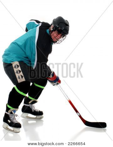 Senior Ice Hockey Player