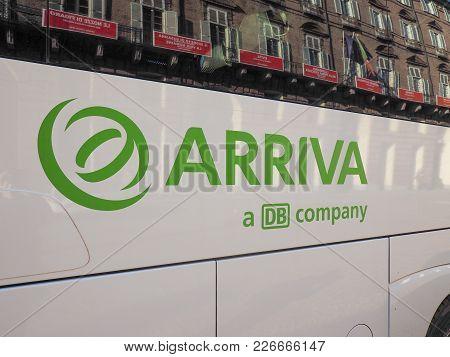 Turin, Italy - Circa February 2018: Arriva (a Db Company) Bus