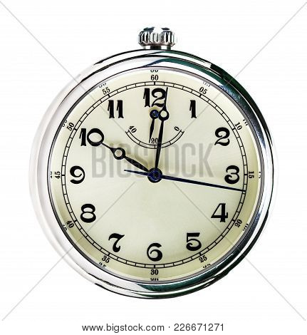 Stopwatch On White Background With Clipping Path.
