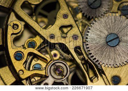 Mechanical Watch, Close Up, Watch Repair, Gears