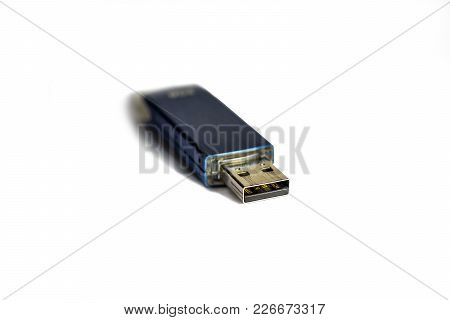 Usb Flash Drive On White Background For Computer And Business