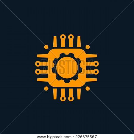 Technology, Circuit Board Vector Icon, Eps 10 File, Easy To Edit