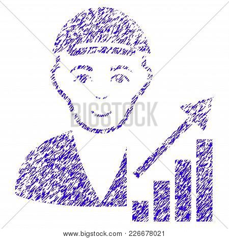 Grunge Stock Trader Rubber Seal Stamp Watermark. Icon Symbol With Grunge Design And Unclean Texture.