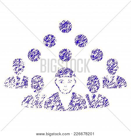 Grunge Staff Manager Rubber Seal Stamp Watermark. Icon Symbol With Grunge Design And Dust Texture. U