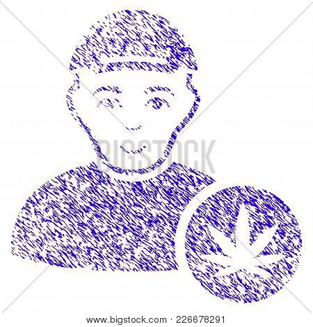 Grunge Marihuana Dealer Rubber Seal Stamp Watermark. Icon Symbol With Grunge Design And Dirty Textur