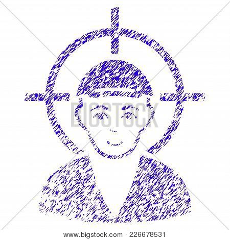Grunge Target Boy Rubber Seal Stamp Watermark. Icon Symbol With Grunge Design And Unclean Texture. U