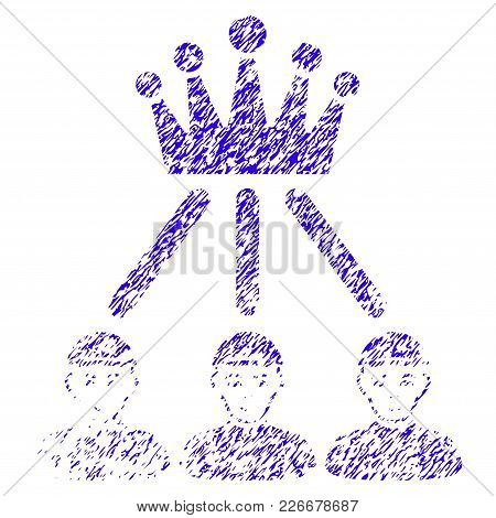 Grunge Hierarchy Men Rubber Seal Stamp Watermark. Icon Symbol With Grunge Design And Dirty Texture.