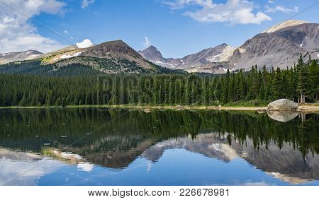 Brainard Lake Reflection In Indian Peaks Wilderness Ward Colorado