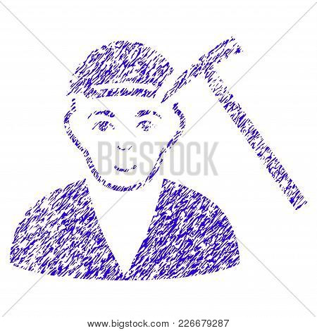Grunge Hammer Victim Rubber Seal Stamp Watermark. Icon Symbol With Grunge Design And Scratched Textu