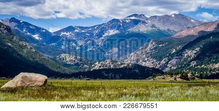 Beautiful View Of Rocky Mountain National Park In Estes Park Colorado