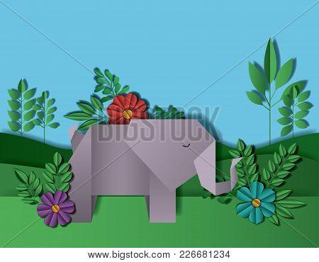 Wild Life Digital Crafts In Landscape Vector Illustration Design