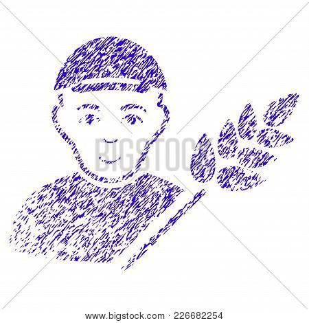 Grunge Rice Farmer Rubber Seal Stamp Watermark. Icon Symbol With Grunge Design And Dust Texture. Unc